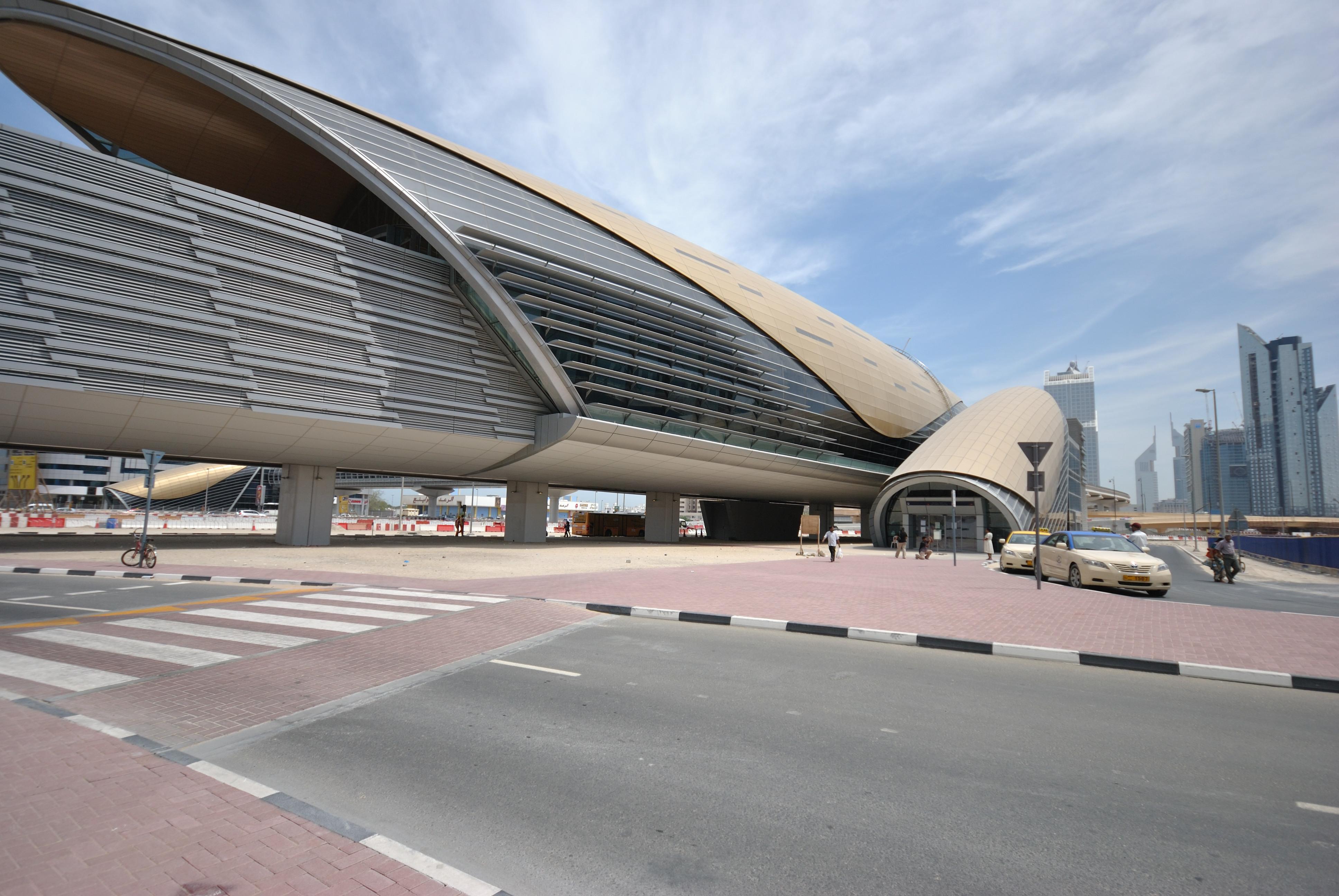 Entrance Canopy Of Dubai Metro - Dubai - Uae