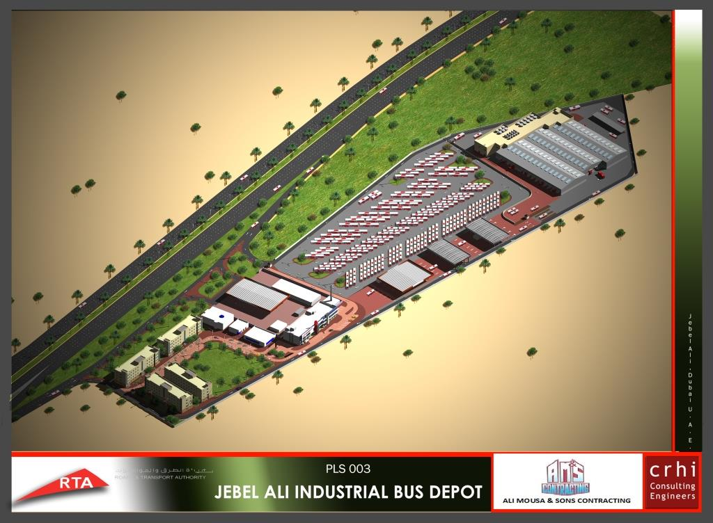 Jebel Ali Ind. Bus Depot – Phase 2 Buildings & Workshops - Jebel Ali, Dubai